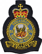 No. 56 (R) Squadron Royal Air Force RAF Crest MOD Embroidered Patch
